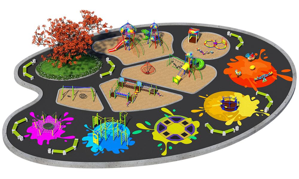 """Детские площадки в стиле """"Акварель"""""""