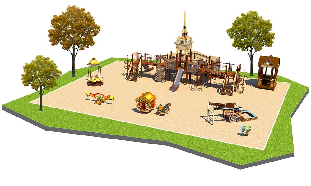 """Детские площадки в стиле """"Достопримечательности"""""""