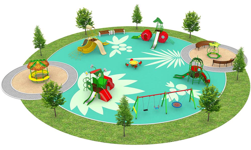 """Детские площадки в стиле """"Фрукты"""""""