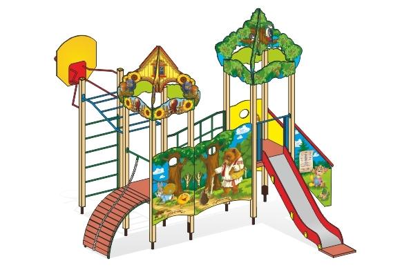 """Детский городок Г-5 """"Сказка Колобок"""" для детской площадки"""