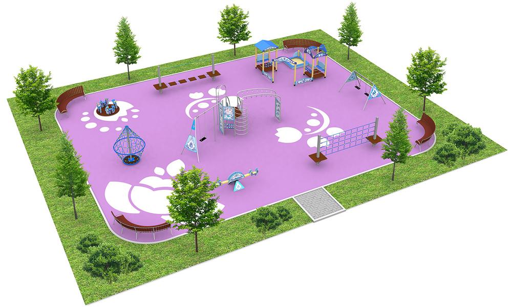 """Детские площадки в стиле """"Гжель"""""""