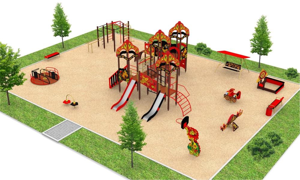 """Детские площадки в стиле """"Хохлома"""""""