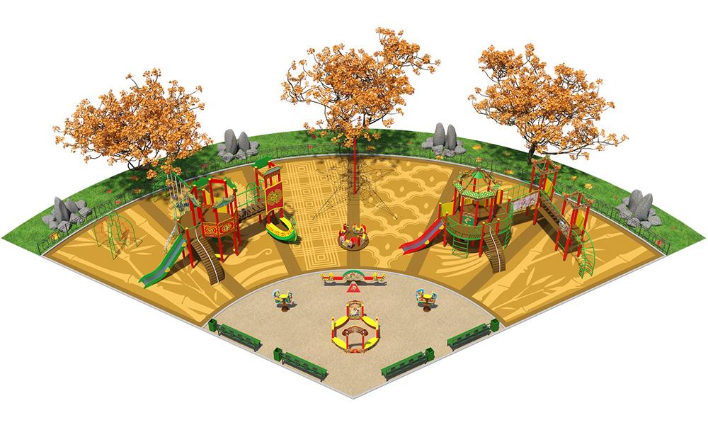 """Детские площадки в стиле """"Китай"""""""