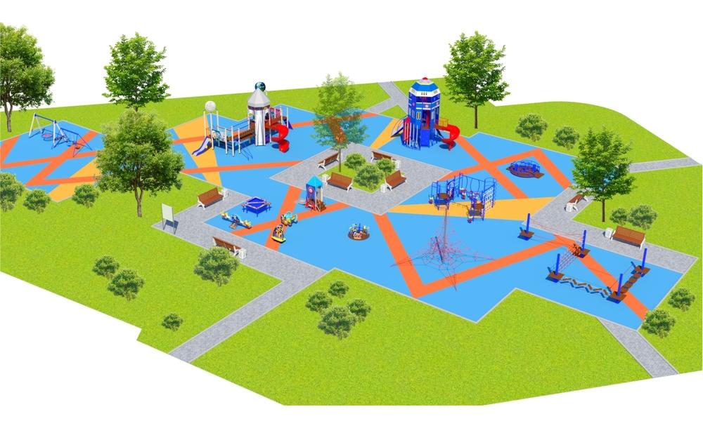"""Детские площадки в стиле """"Космос"""""""