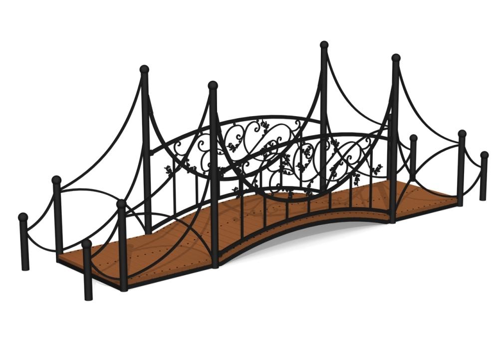 Кованый мостик М-7