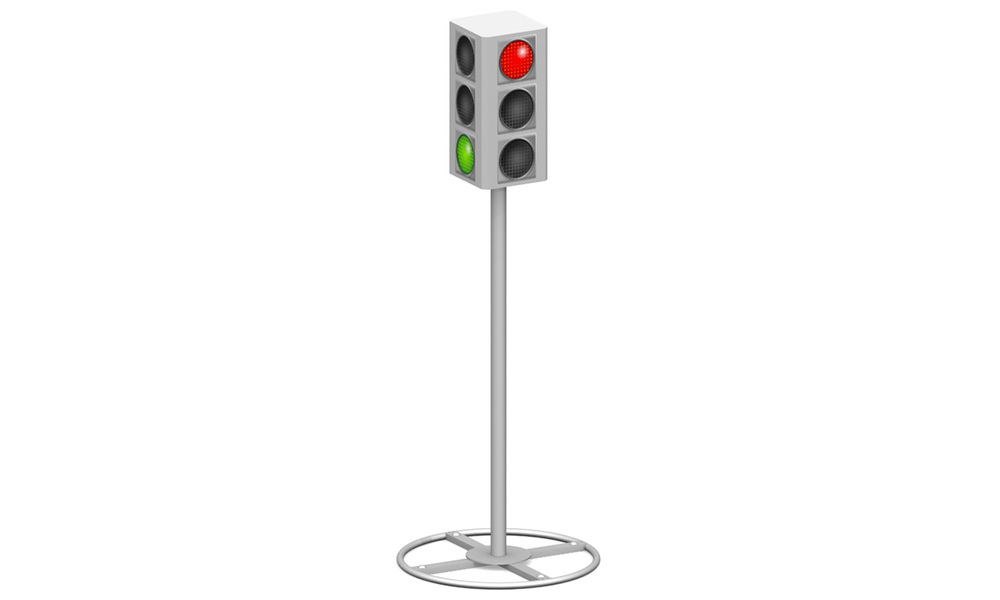 3-х секционный светофор МП-3