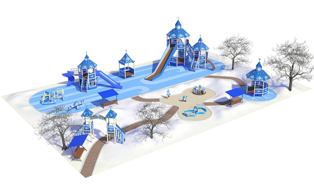 """Детские площадки в стиле """"Новый год"""""""