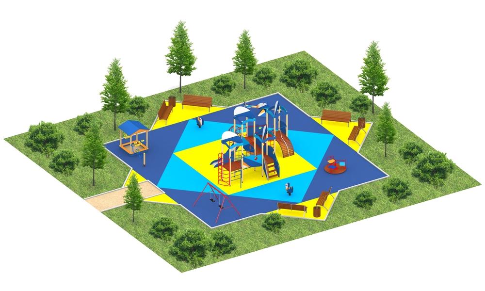 """Детские площадки в стиле """"Сити H"""""""