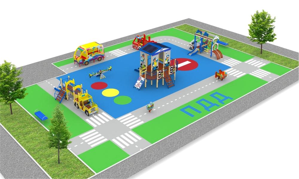 "Детские площадки в стиле ""Полиция"""
