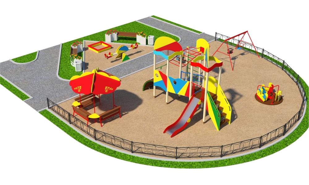 """Детские площадки в стиле """"Сити A"""""""