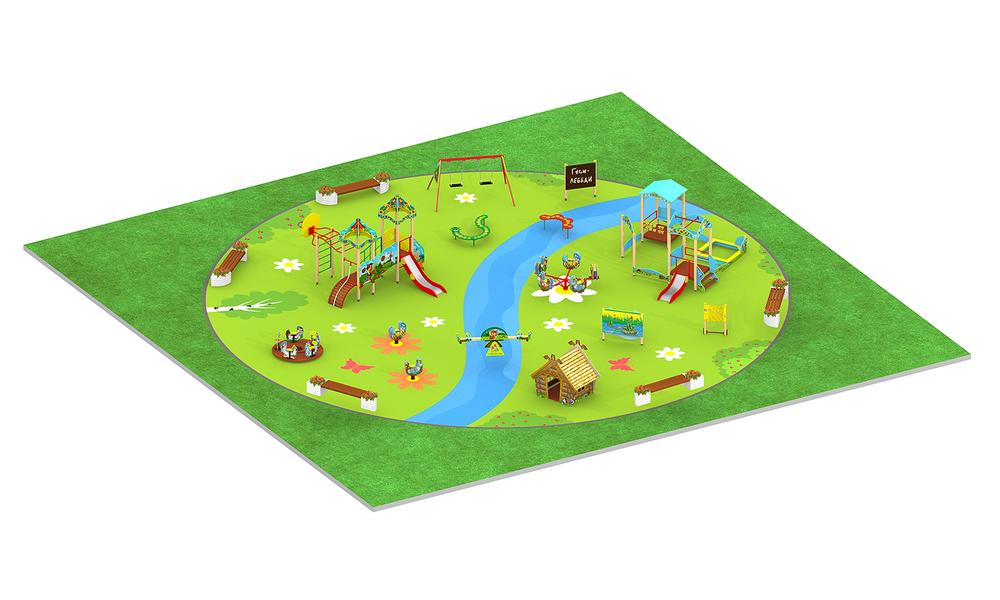 """Детские площадки в стиле """"Гуси-Лебеди"""""""