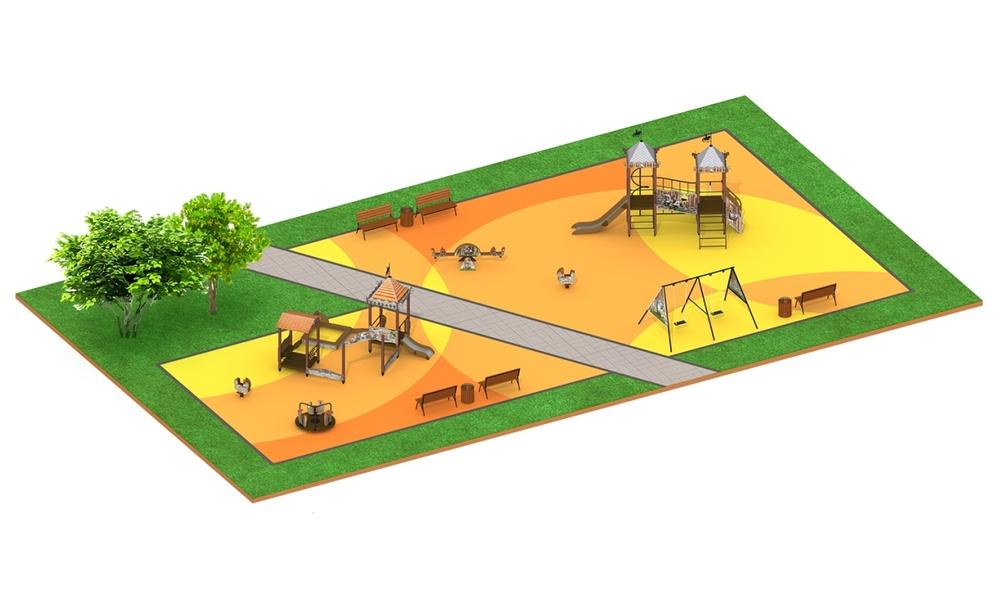 """Детские площадки в стиле """"Старый город"""""""