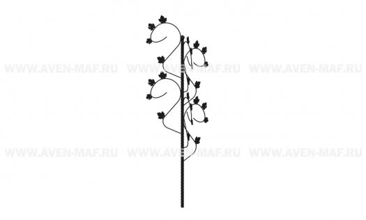 Металлическая декоративная опора для вьющихся растений ДМ-11