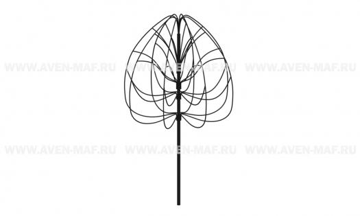 Металлическая декоративная опора для вьющихся растений ДМ-1