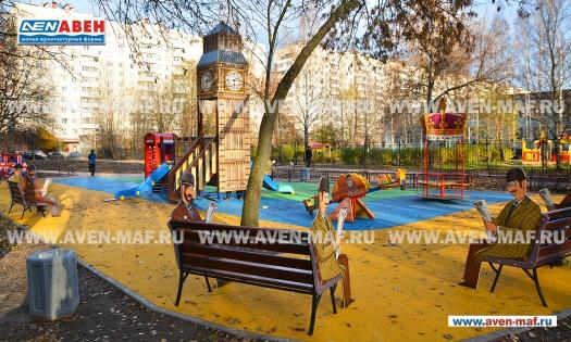 """Скамейка детская С-172 """"Лондон"""" фото"""