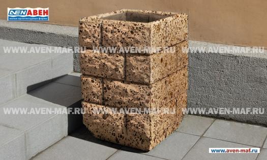 Бетонная урна для мусора У-110 фото