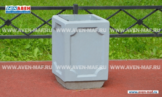 Бетонная урна для мусора У-188 фото