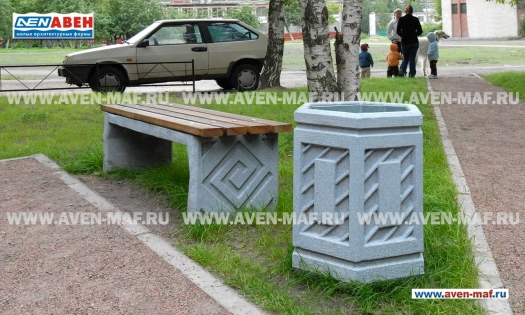 Бетонная урна для мусора У-22 фото