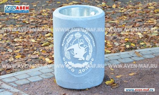 Бетонная урна для мусора У-30 фото