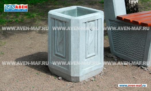 Бетонная урна для мусора У-38 фото