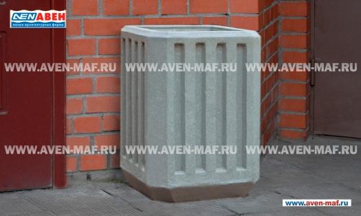 Бетонная урна для мусора У-39 фото