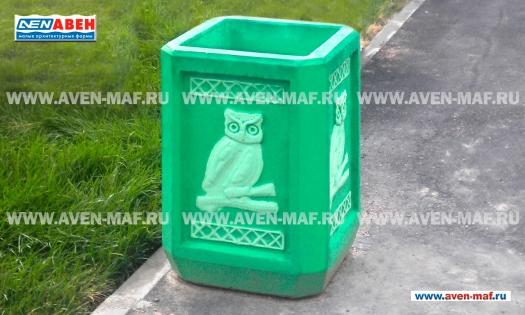 Бетонная урна для мусора У-56 фото
