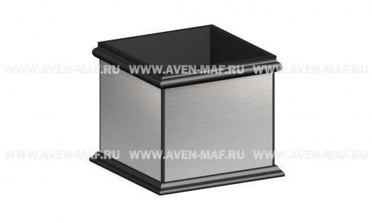 Вазон металлический с зеркальной поверхностью В-94