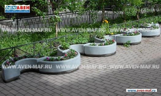 Вазон для цветов бетонный В-32/3 фото