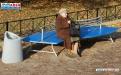 Парковая скамейка с металлическим основанием С-130 фото