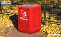 Бетонная урна для мусора У-29 фото