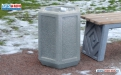 Бетонная урна для мусора У-51 фото