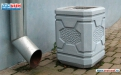 Бетонная урна для мусора У-52 фото