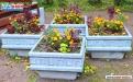 Вазон для цветов бетонный В-1/2 фото