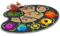 Детские площадки серии Акварель