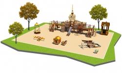 Детские площадки серии Достопримечательности Санкт-Петербурга