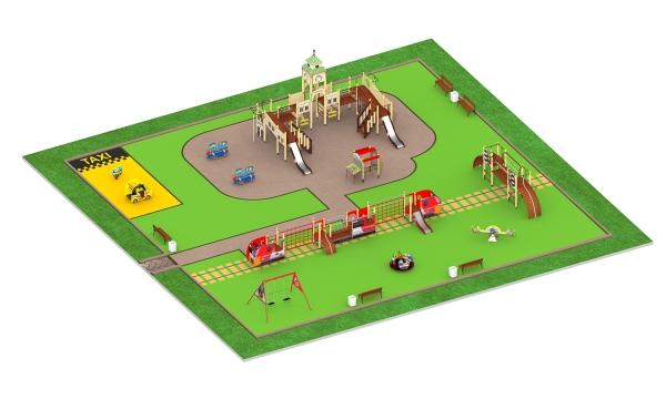 Детские площадки серии Железная дорога