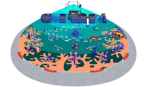 Детские площадки на Морскую тематику