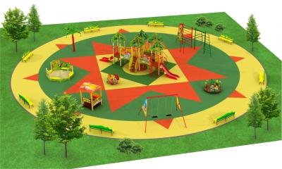 Сказочные детские площадки серии Африка