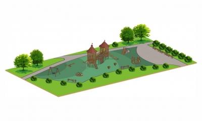 Сказочные детские площадки серии Крепость