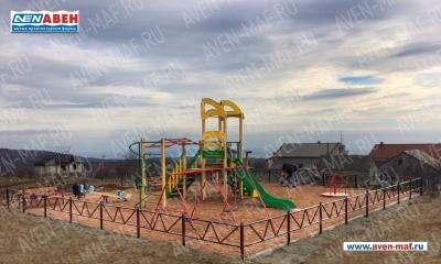 Детская площадка АВЕН в селе Верхняя Кутузовка