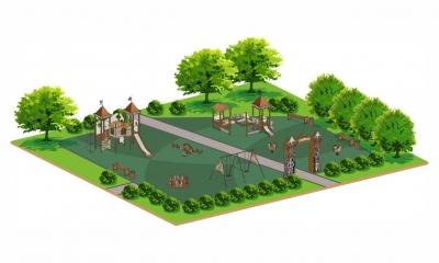 Детские площадки серии Старый город