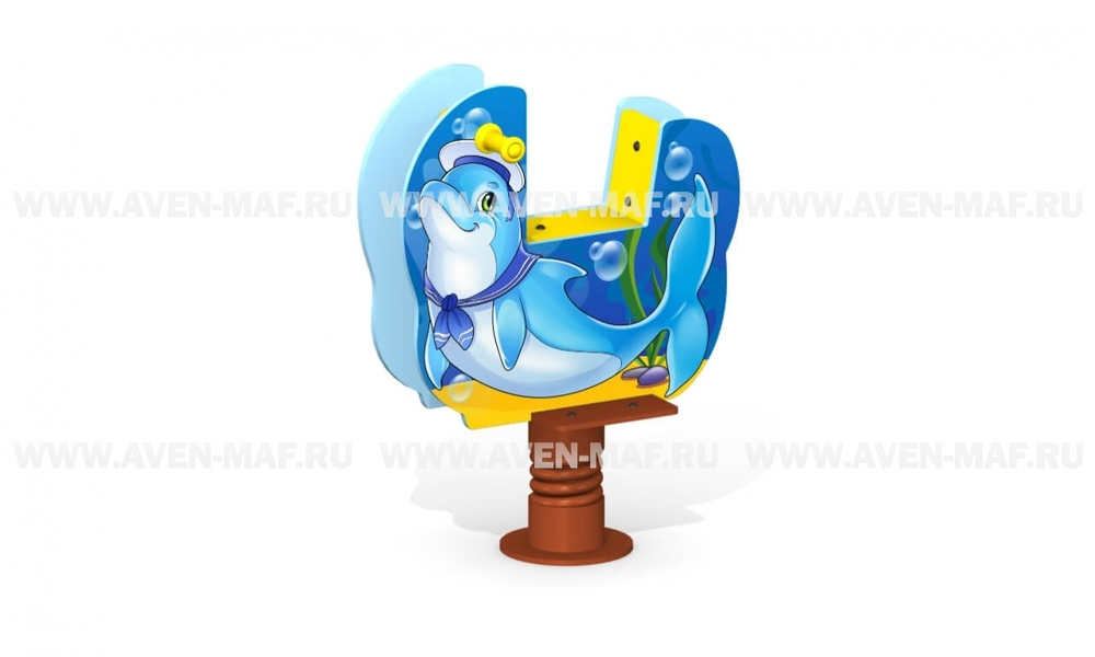 """Качалка на пружине МК-21 (070) """"Дельфин"""""""