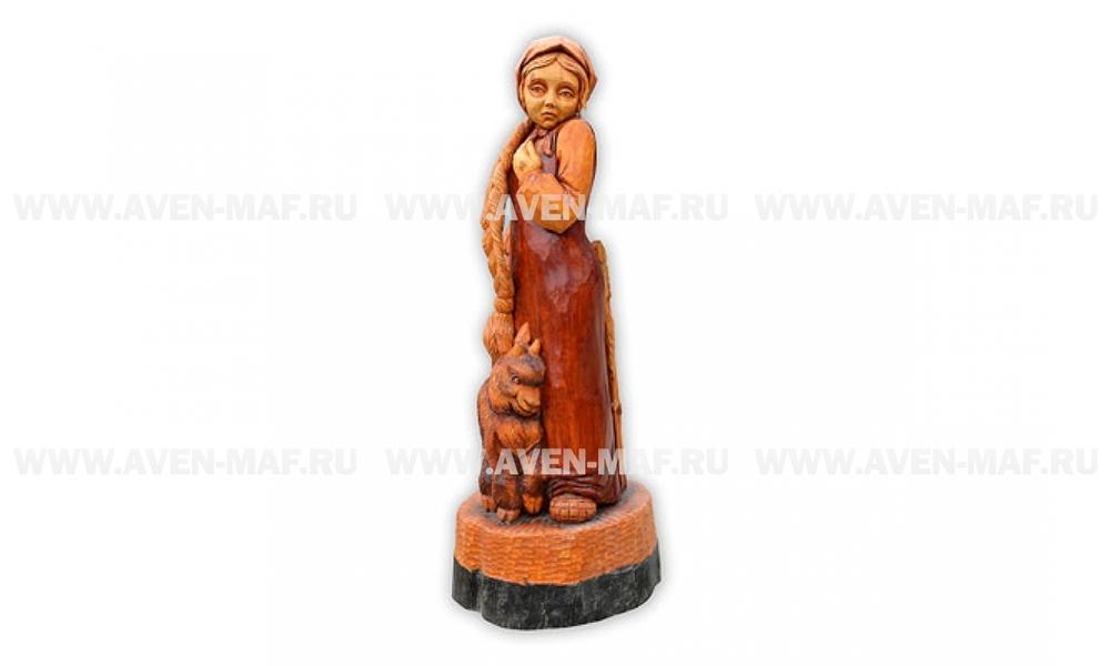 """Парковая деревянная фигура """"Аленушка"""""""