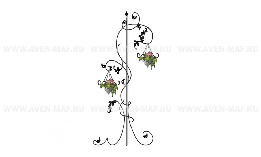 Металлическая декоративная опора для вьющихся растений ДМ-12
