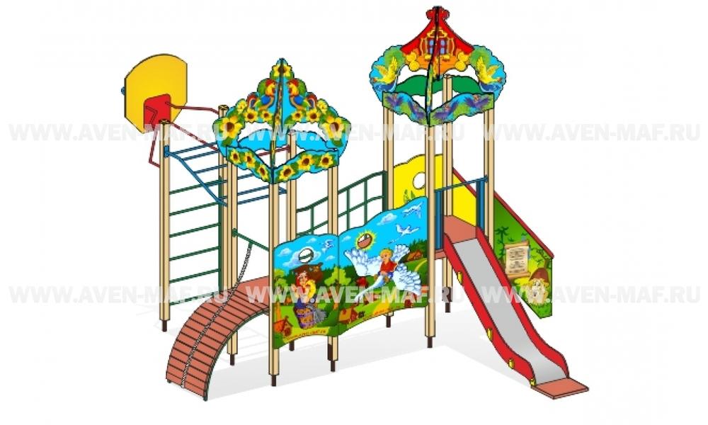 """Детский городок Г-5 """"Сказка Гуси Лебеди"""" для детской площадки"""