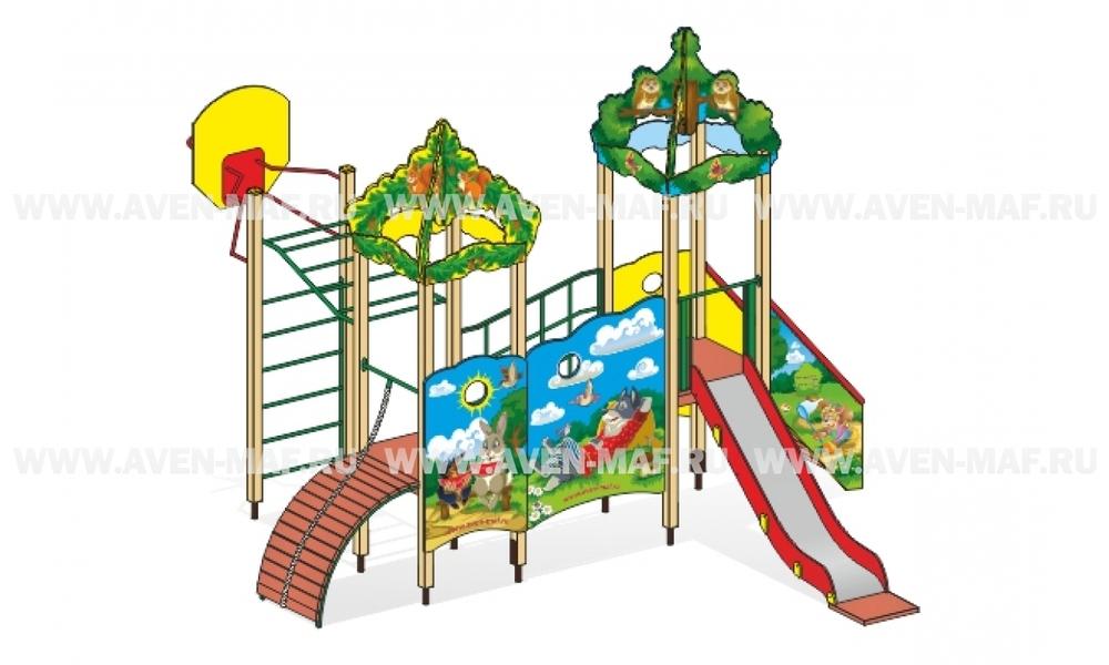 """Детский городок Г-5 """"Сказка Зайцы в лесу"""" для детской площадки"""