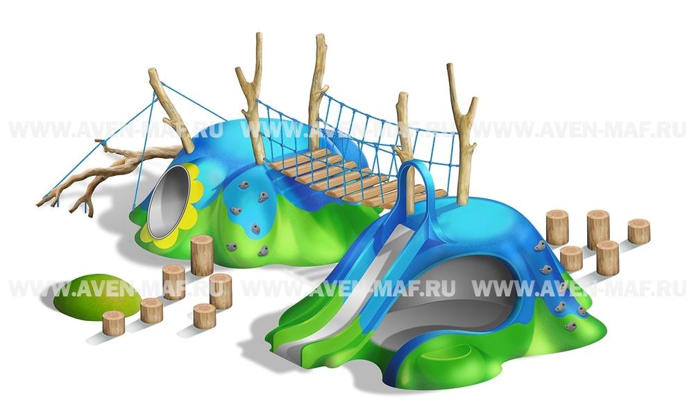 Игровой комплекс Холм (геопластика) ГХ-4
