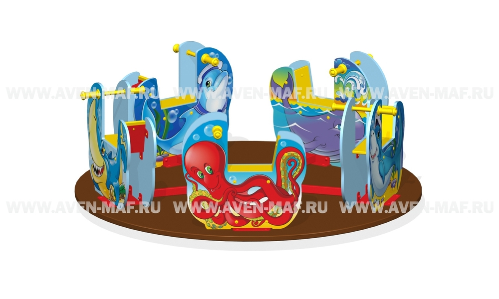 """Детская карусель К-7/1 """"Подводный мир"""""""