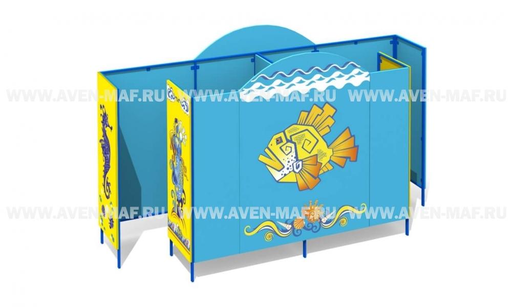 Пляжная кабинка Л-2/1 фанера