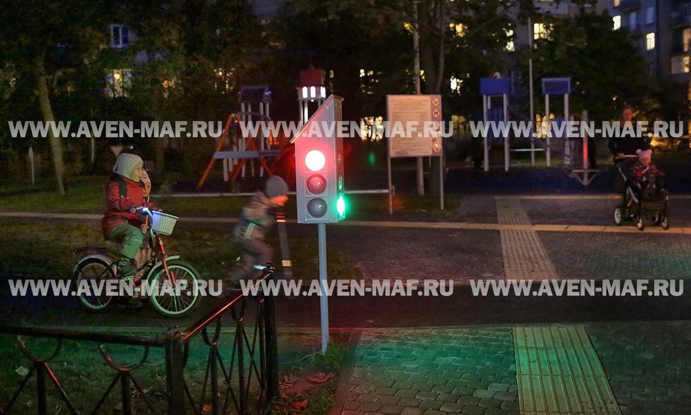 3-х секционный светофор МП-3/1 с подсветкой